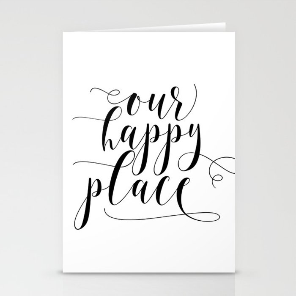 image about Farmhouse Printable referred to as Our Content Point Printable, Farmhouse Printable, Our Joyful Position Indication, Farmhouse decor Stationery Playing cards through nikolajovanovic