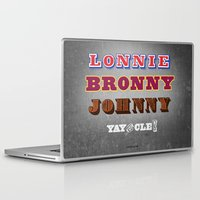 lebron Laptop & iPad Skins featuring Lonnie, Bronny, Johnny by Melissa Olson