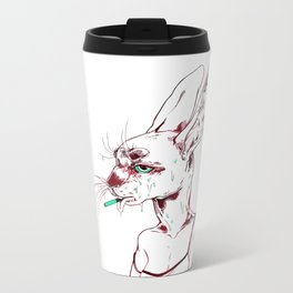 goopy rabbit Metal Travel Mug