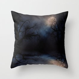 Haunted Forest Throw Pillow