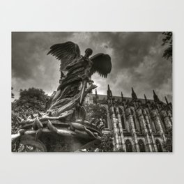 Angel with a sword Canvas Print