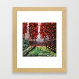 Red Tree Forest <3 Framed Art Print