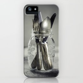 Forks spoons and knifes iPhone Case