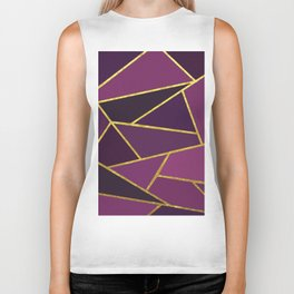 The Color of Purple And Gold Biker Tank
