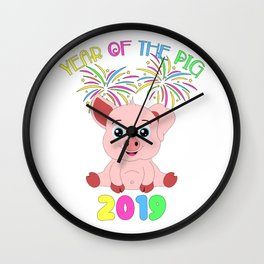Year Of The Pig Chinese New Year Astrology Zodiac Wall Clock