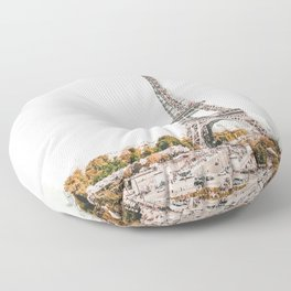 Paris City France Floor Pillow