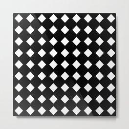 rhombus and tartan 5–  black and white Metal Print