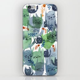 A Quiet Cacophony of Cats iPhone Skin