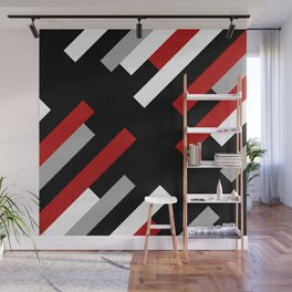 Diagonal stripes Wall Mural