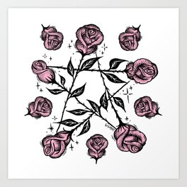 R O S E G R A M Art Print