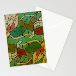 Floral, blood and thorn pattern Stationery Cards