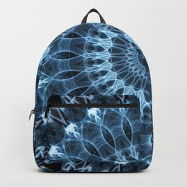 Glowing blue mandala Backpack