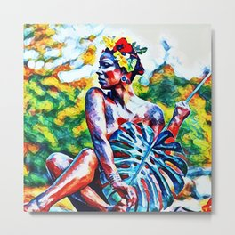 Nature Woman Metal Print