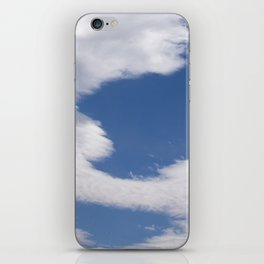Floating White Cotton Candy Clouds Drifting in Sky iPhone Skin
