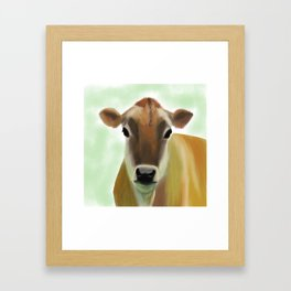 The Jersey - the prettiest cow in the world Framed Art Print