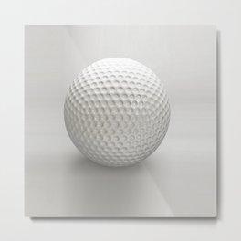 Novelty Golf Ball Metal Print