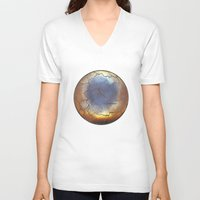cracked V-neck T-shirts featuring Cracked by Ariana Mei