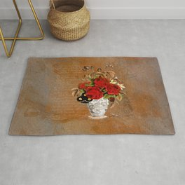Roses with Insects Rug