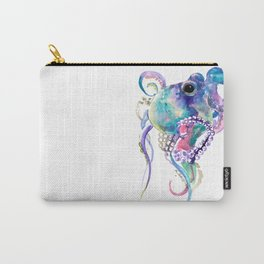 Tuquoise BLue Pink Purple Octopus Carry-All Pouch
