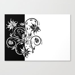 Abstract floral ornament Canvas Print