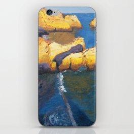 Aerial ocean, coast, Atlantic, Portugal, beach,sunset iPhone Skin