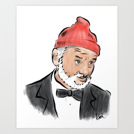 Bill Murray as Steve Zissou Art Print