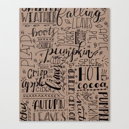 All Things Fall on Craft Canvas Print