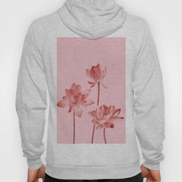 Three Lotos Flowers pink Design Hoody