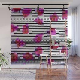 Rose Glitch Wall Mural