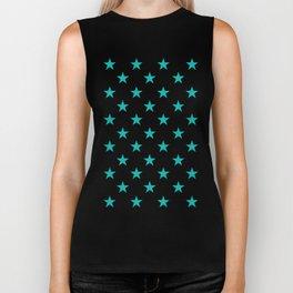 Stars (Tiffany Blue/White) Biker Tank