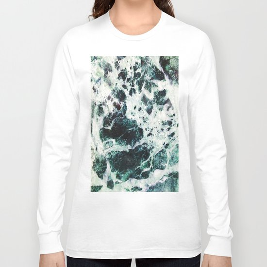 Green Marble  Long Sleeve T-shirt