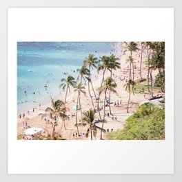 Hanauma Bay Hawaii Art Print