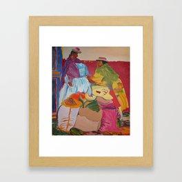 Happy Latin Ladies Framed Art Print