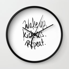 wake.kick.repeat Wall Clock