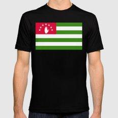 Abkhazia Flag Black Mens Fitted Tee MEDIUM