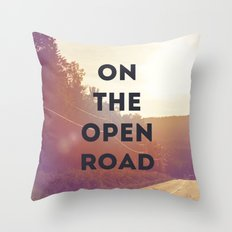 on the open road. Throw Pillow
