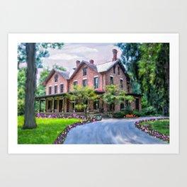 Rutherford B. Hayes Home Art Print