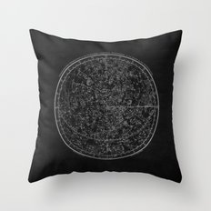 Vintage Celestial Map II Throw Pillow