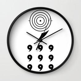 6 Paths Wall Clock