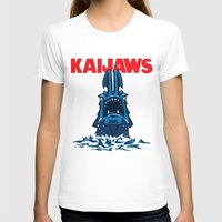 pacific rim T-shirts featuring KaiJaws (Pacific Rim/Jaws) by Tabner's