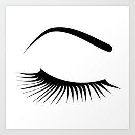 Closed Eyelashes Right Eye Art Print