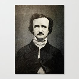 Edgar Allan Poe Engraving Canvas Print