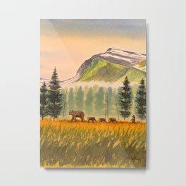 Bears On The Move - Hey Wait For Me! Metal Print