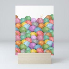 So Much Yarn Mini Art Print