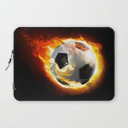 Soccer Fire Ball Laptop Sleeve