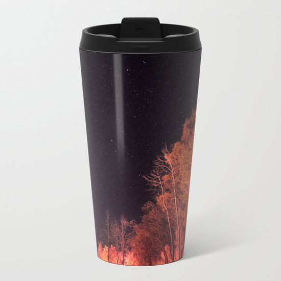 Firey woods Metal Travel Mug