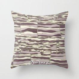 SILVER TECHNO Throw Pillow