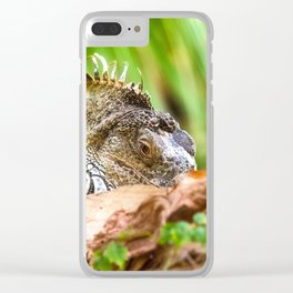 Chameleons master of disguise Clear iPhone Case