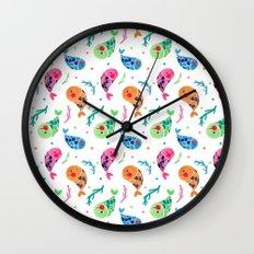 The Happy Fish Pattern Wall Clock