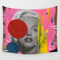 marilyn Wall Tapestries featuring Marilyn by FAMOUS WHEN DEAD